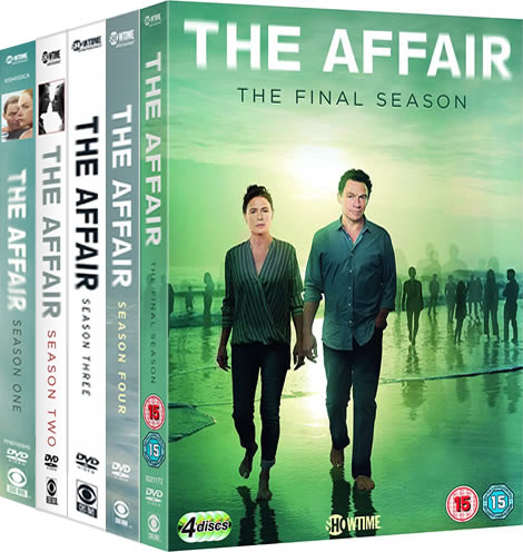 The Affair Season 1-5 DVD Pack