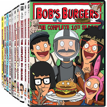Bob's Burgers Season 1-10 DVD Pack