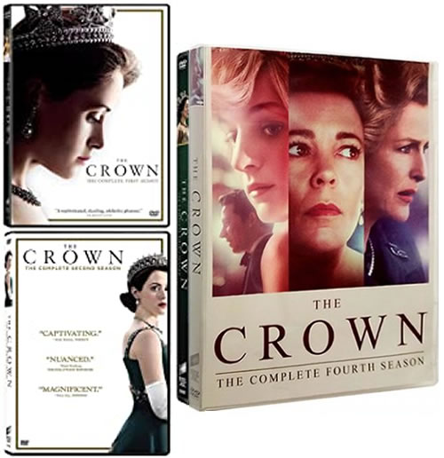The Crown Season 1-4 DVD Pack for Sale